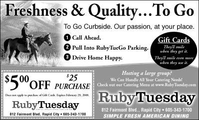 ruby tuesday call ahead